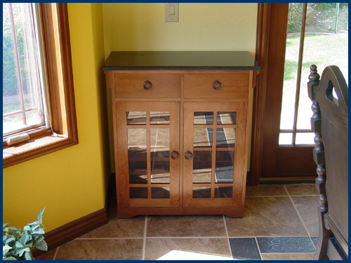 Cherry Stickley Style Wine Cabinet View 2