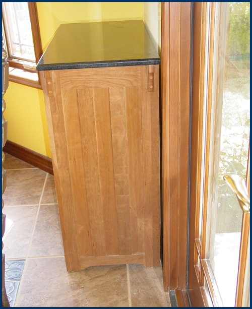 Cherry Stickley Style Wine Cabinet View 3