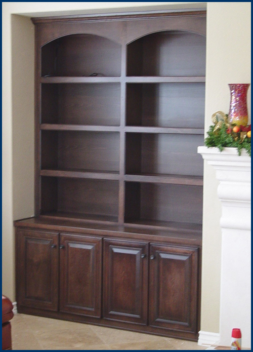 Dark Beech Bookcase