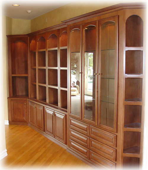 Maple Bookcase & China Cabinet