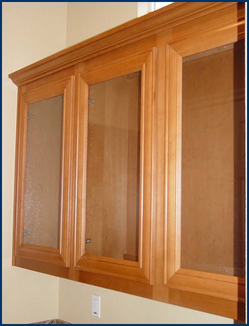 Beech Glass Upper Cabinets
