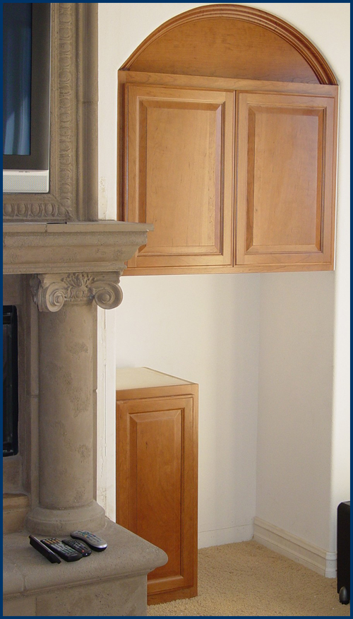 Cherry Arched Upper Cabinets
