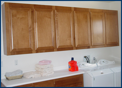 Maple Laundry Cabinets