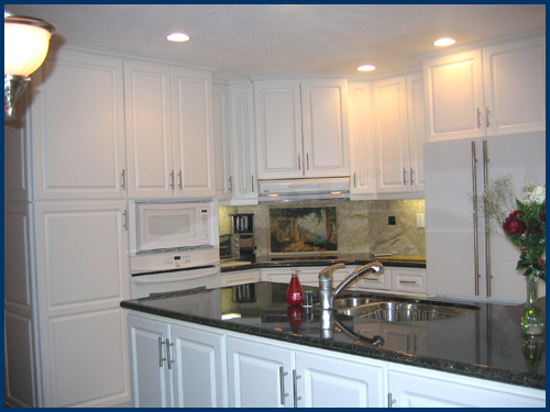 White Kitchen Cabinets View 1