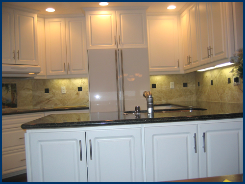 White Kitchen Cabinets View 4