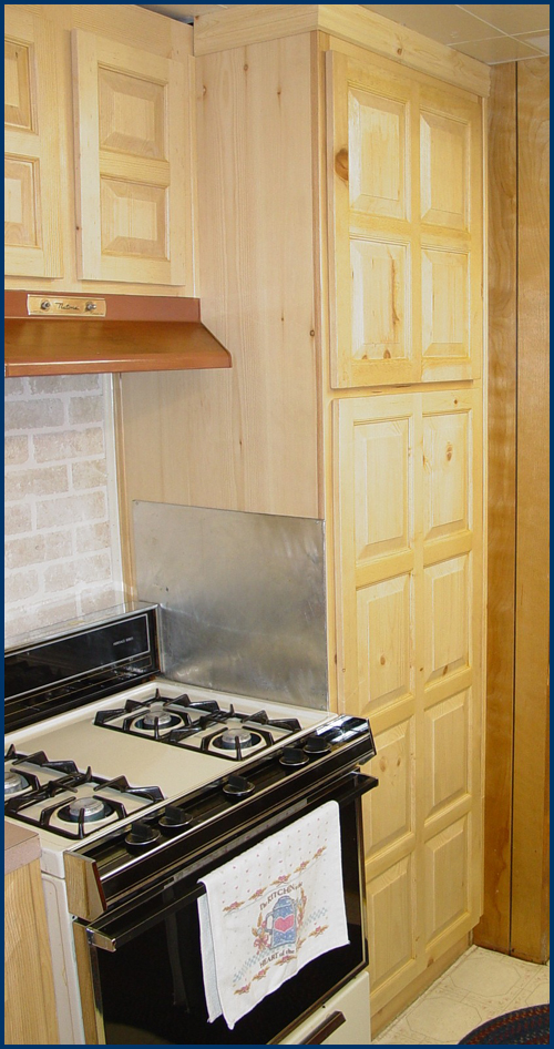 Pine Kitchen Cabinets 1