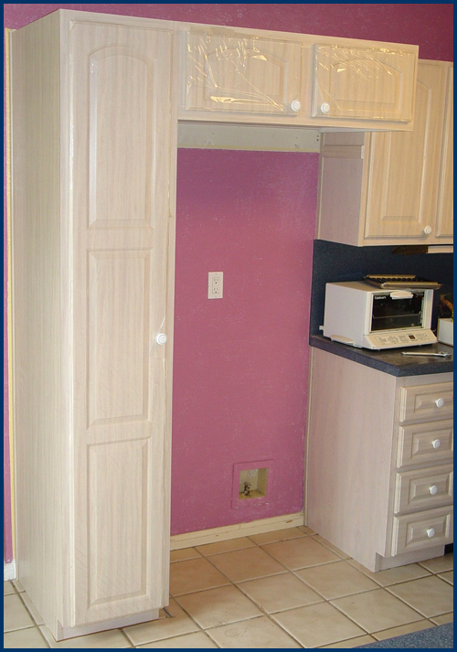 Refrigerator Pantry & Upper Cabinets